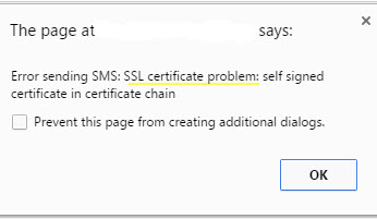 Solution for WordPress Self Signed Certificate Error