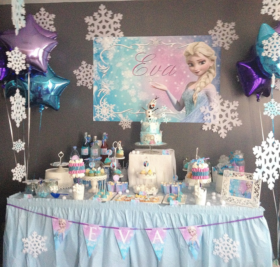 deco anniversaire la reine des neiges d anniversaire idee 7