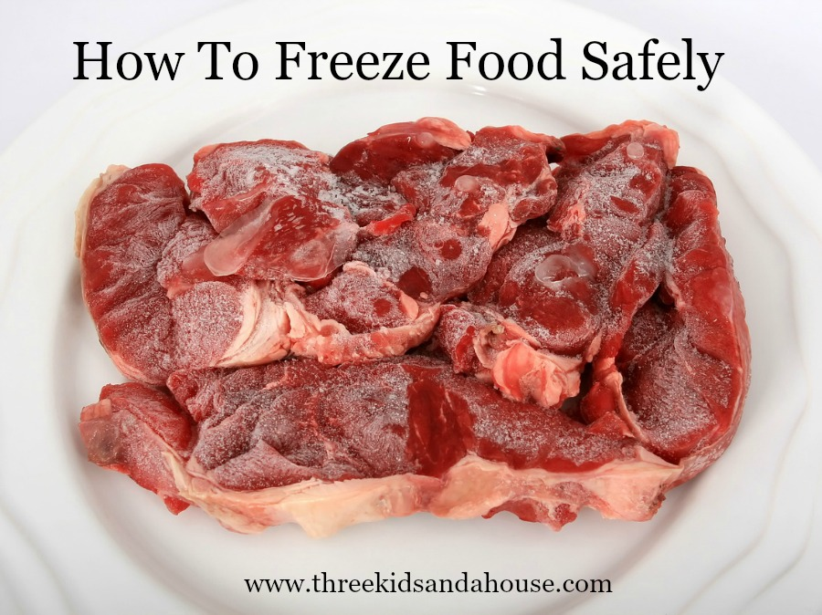 How to freeze food like meat safely