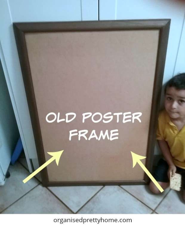 hang kids posters with a DIY poster frame