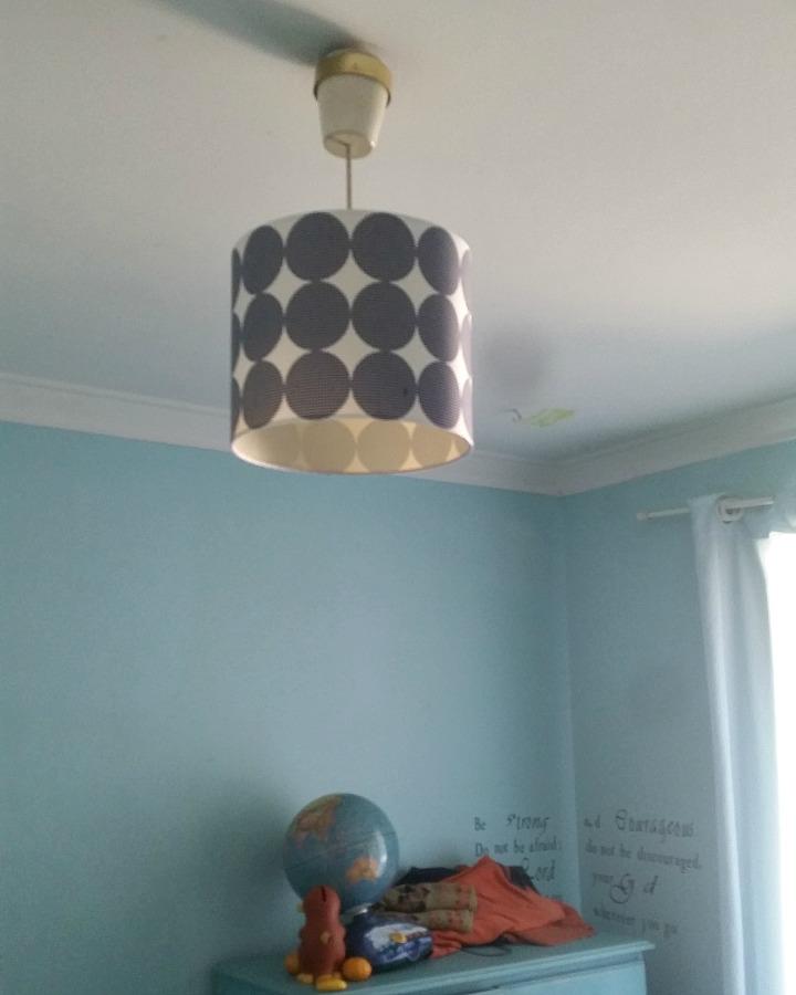 boys bedroom ideas: retro light shade