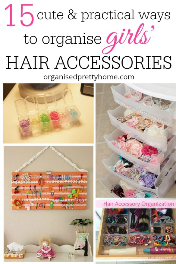 organise girls' hair accessories with these cute and practical ways