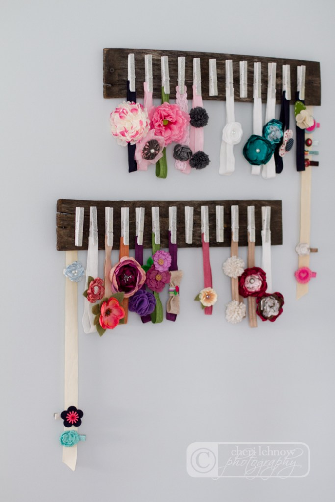 organise girls' hair accessories