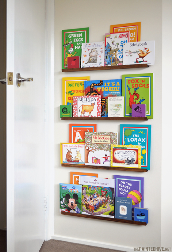 children's book storage ideas on diy narrow picture ledges