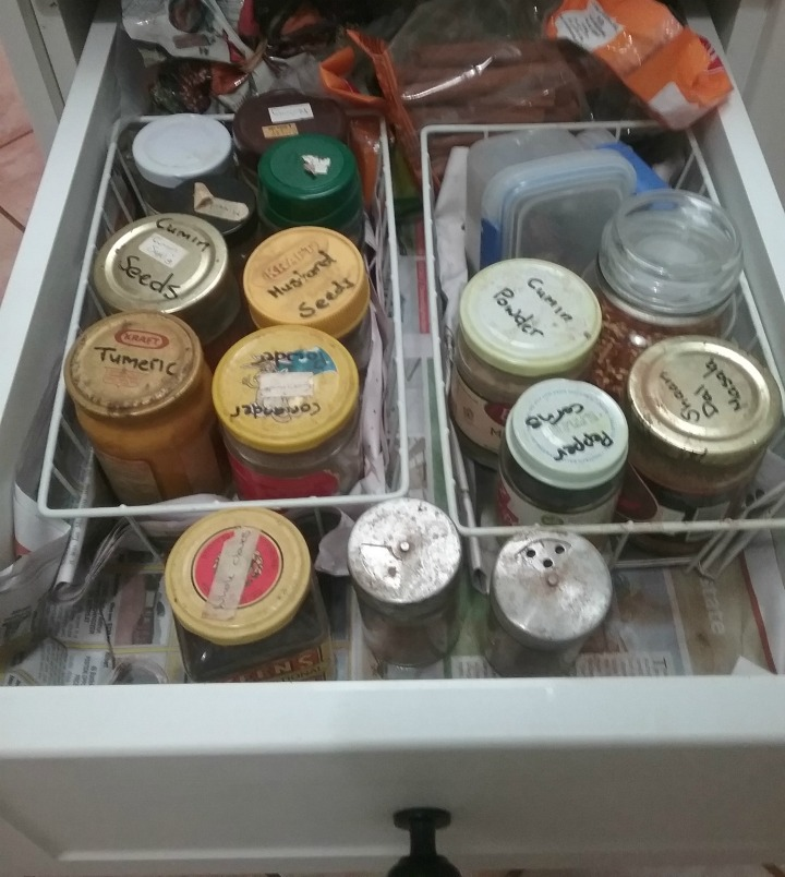 spice drawer before