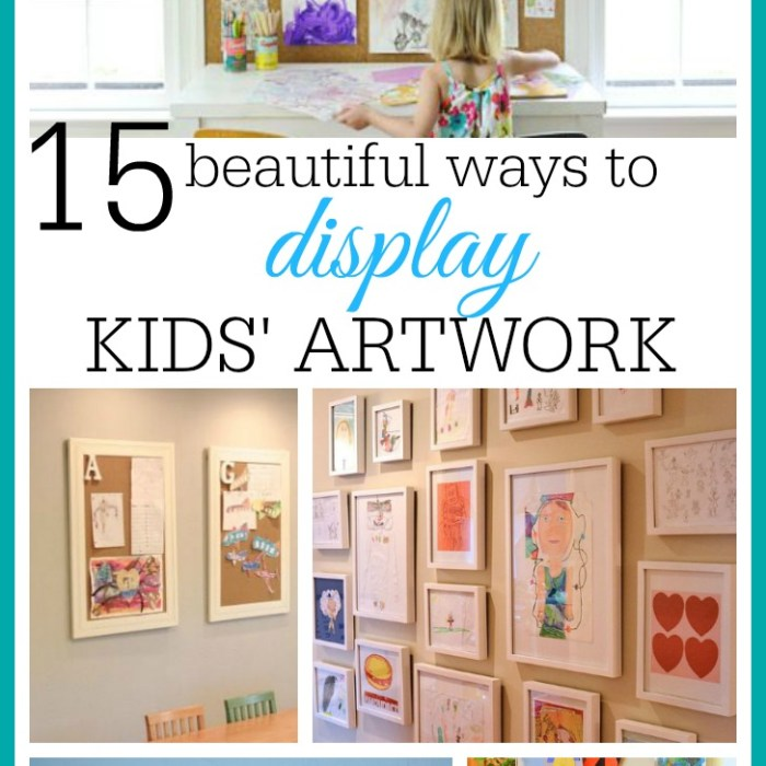 15 Ways To Display Kids' Artwork In Your Home
