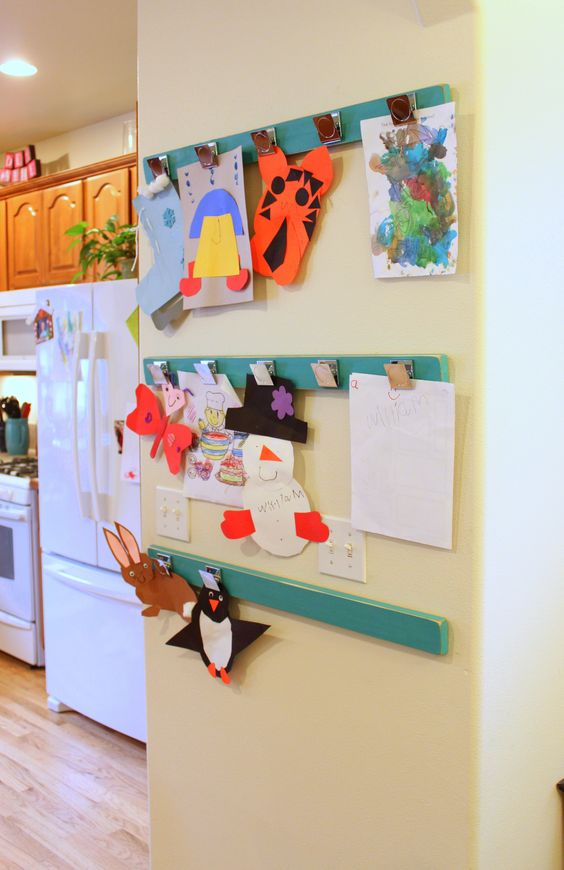 15 Ways To Display Kids Artwork In Your Home