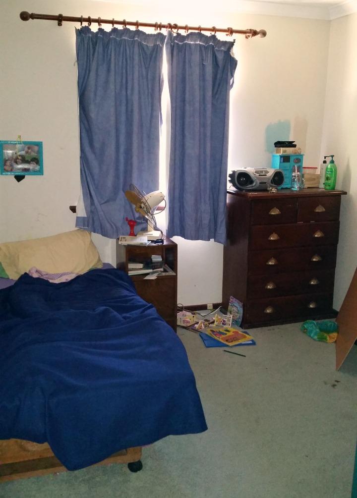 tween girl's bedroom the ugly before photo