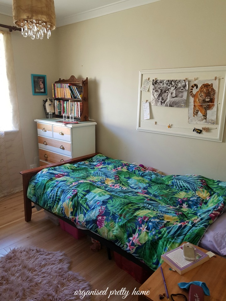 Tween Girl S Bedroom Before And After Organised Pretty Home