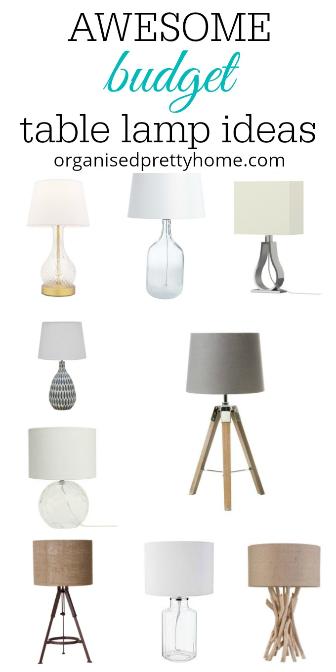 decorating on a budget - table lamps for the living room ideas