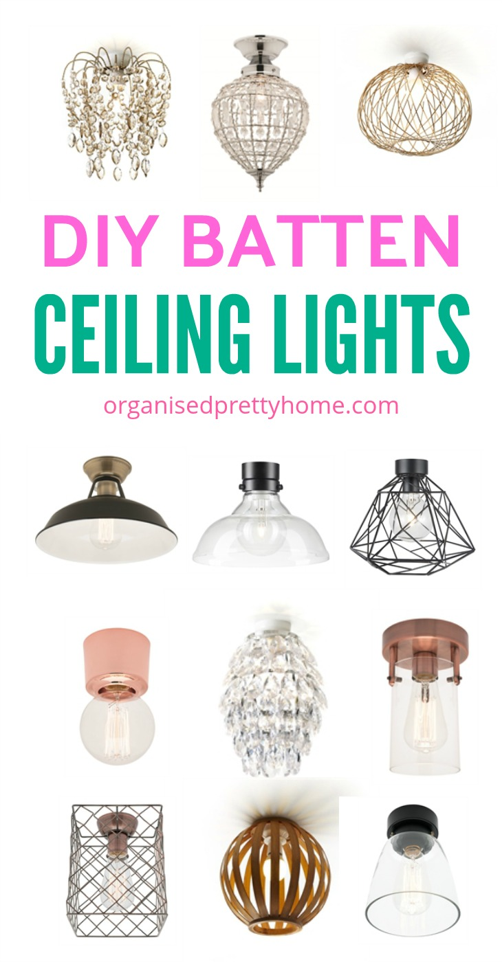 DIY Ceiling fixtures or lights for small entryways - easy entryway ideas