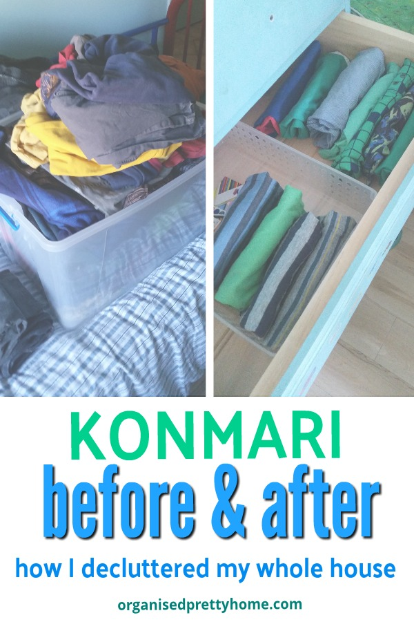konmari before and after - how I decluttered my home with the Konmari method