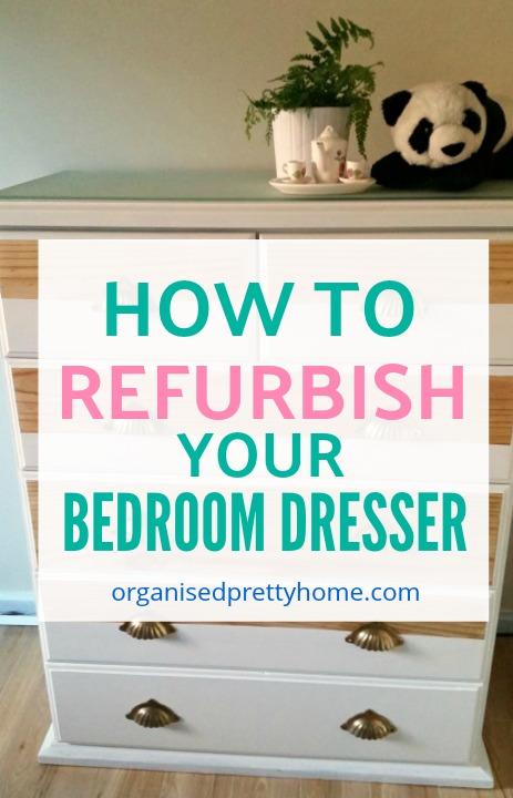 girls bedroom dresser makeover