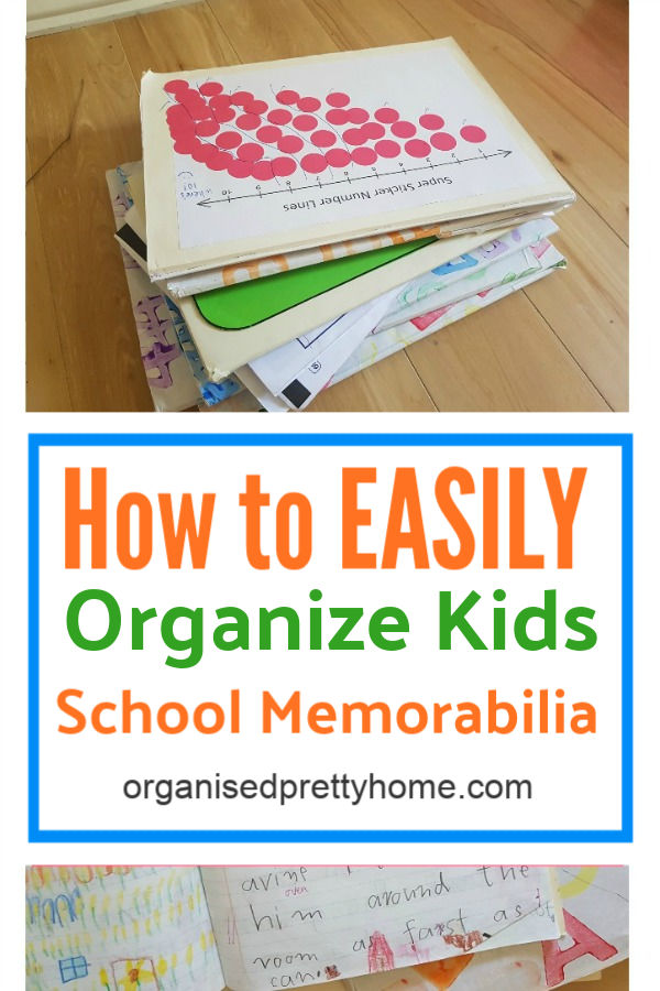 3 great ideas to organize kids school memorabilia, school papers, certificates and art work etc.  Choose the storage idea for memory keepsakes that works best for you!  Learn more... - Organised Pretty Home #organizekidstuff #organizedhome #organize #organizedlife #organizekids