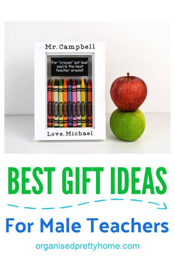 Love these handmade and unique male teacher gift ideas for end of school year, back to school or even Christmas. Great way to show appreciation for classroom teachers or coaches. - Organised Pretty Home #cheap #teachergiftideas #teachergifts #maleteachergifts #maleteacher