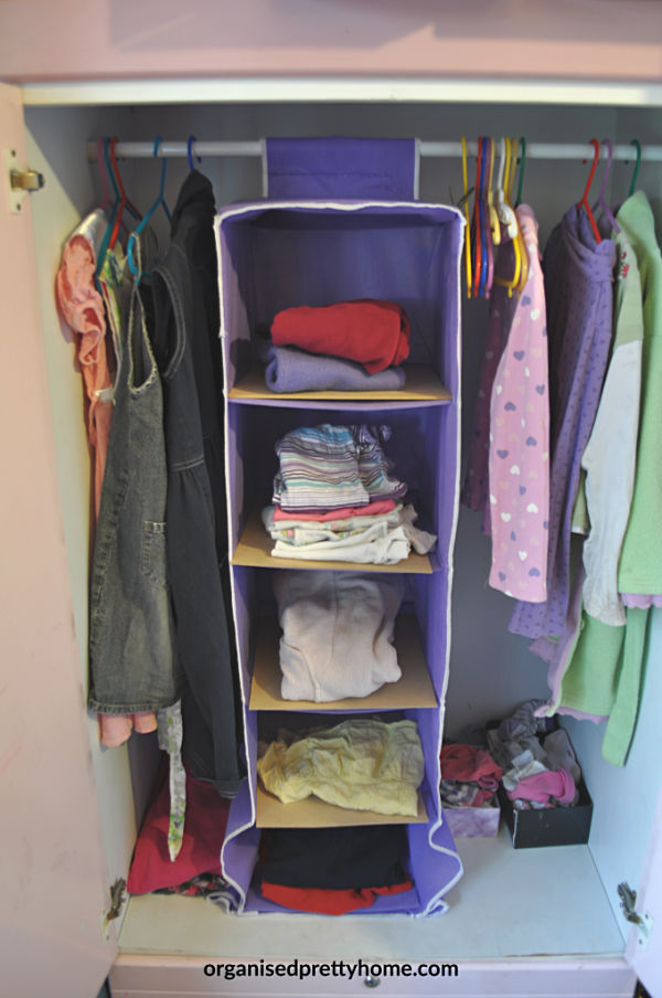 shared bedroom - clothes organization