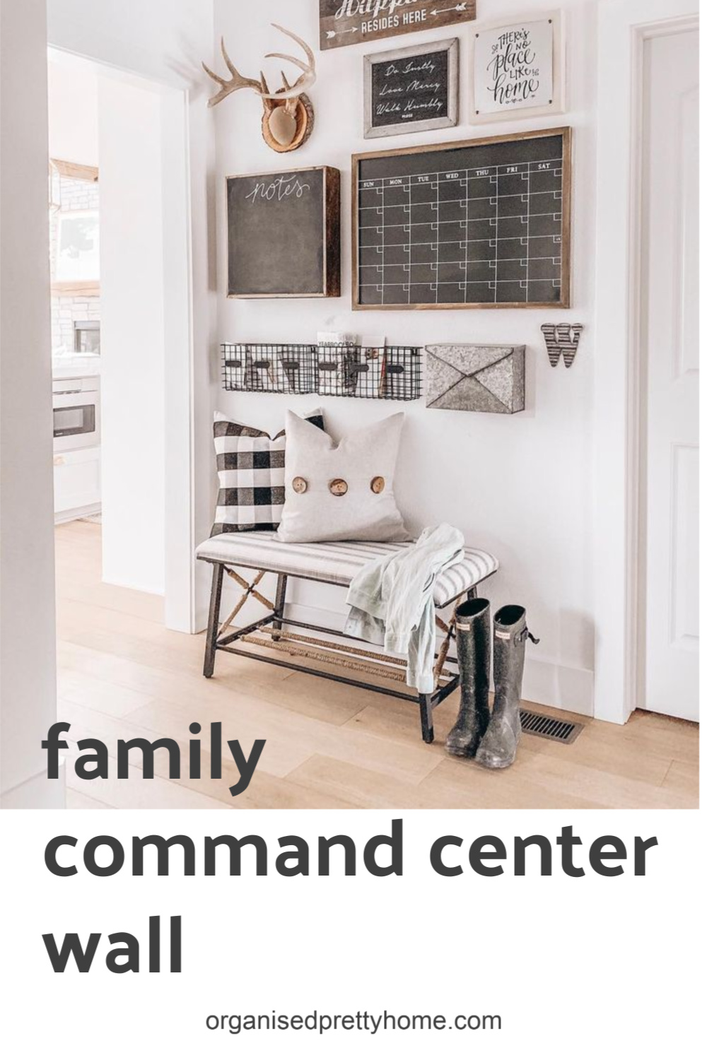Create your own DIY family command center with these simple steps.