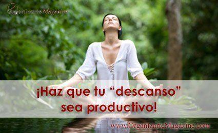 Descanso productivo - meditación