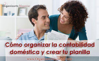 organizar contabilidad del hogar y planilla de gastos