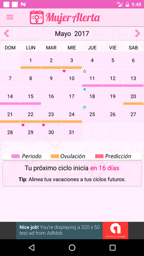 App Calendario Menstrual Digital