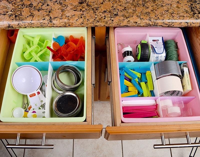 Cocina con orden productos comida comestibles