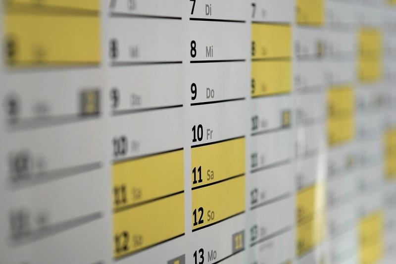 organizador calendario almanaque fechas Boda organizar organización para boda