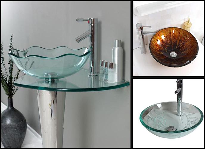 limpiar el fregadero vidrio