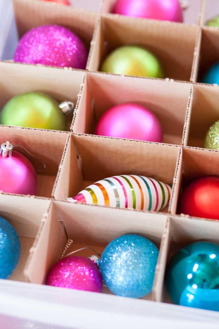organize ornaments