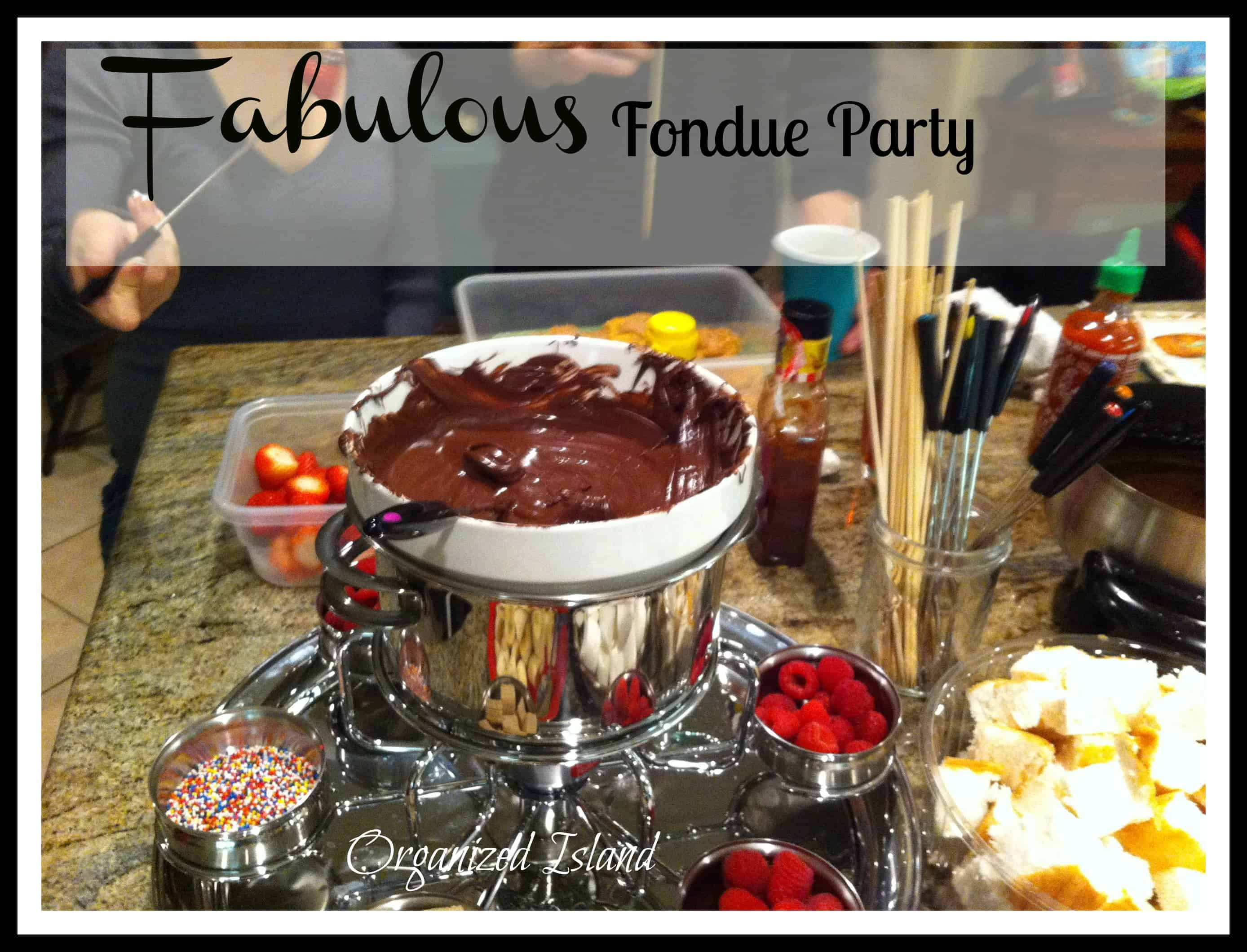 Organizing A Fondue Party