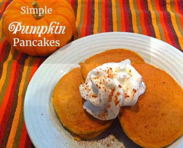 Simple way to make fluffy, pumpkin pancakes! A fun fall breakfast.