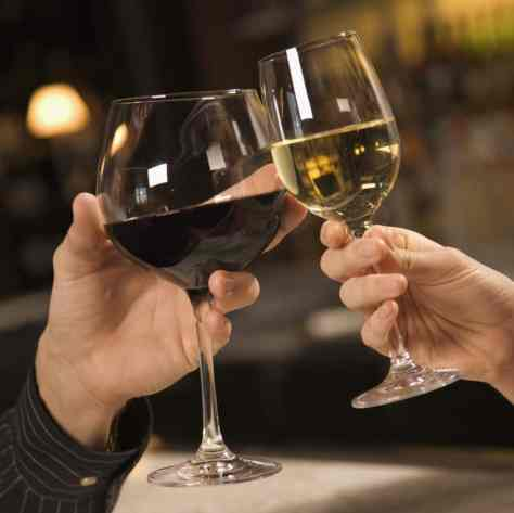 Cheers to a frugal date night on the town
