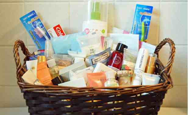 Make your guests feel welcome. Creating a toiletries basket is an easy way to make guests feel comfortable.