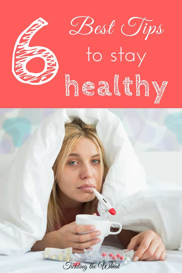 By following these 6 healthy living tips, you'll be able to stay healthy and take care of your family even when the rest of your house is feeling sick.