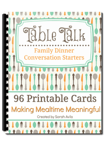 Make dinners fun with these printable conversation starters.