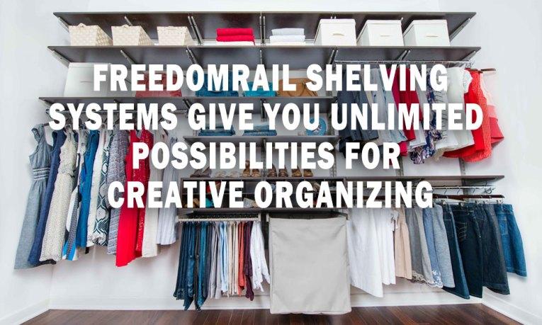 freedomRail Shelving Systems
