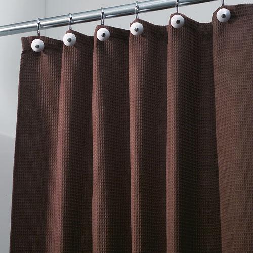 york fabric shower curtain chocolate