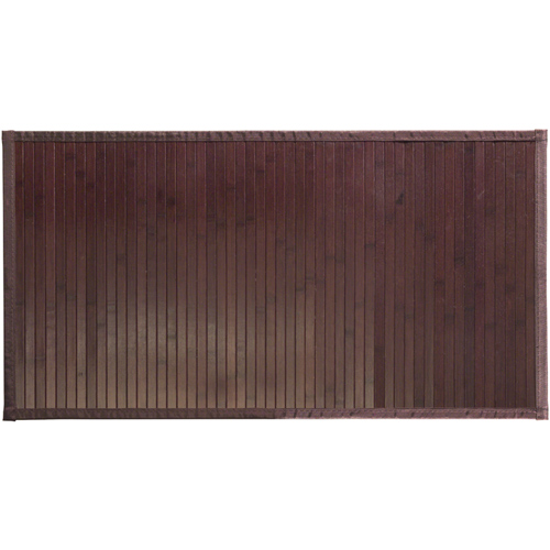 interdesign bamboo bathroom mat - mocha in shower and bath mats