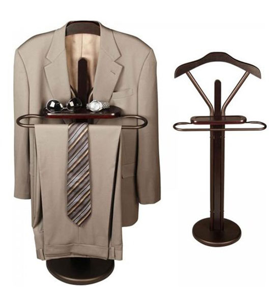 Espresso Wood Suit Valet In Suit Valets