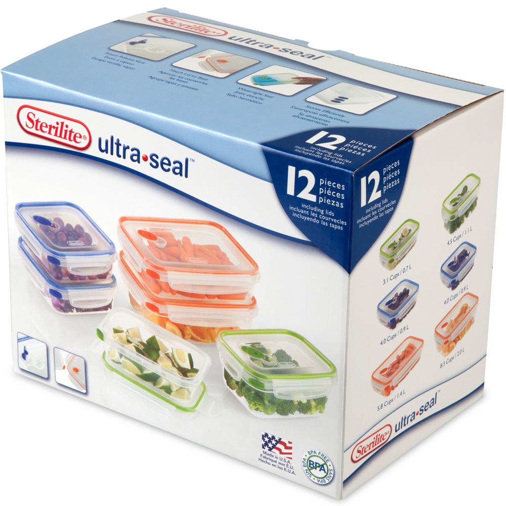 Sterilite Food Storage Containers Ultra Seal Set Of 6