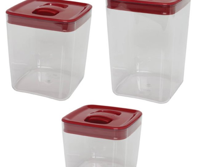 Clickclack Food Storage Containers Large Red Image