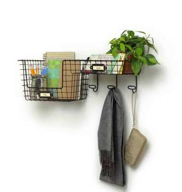 A Small Coat Rack With Baskets Can Make A Big Difference Clutter Extraordinary Wall Coat Rack With Baskets