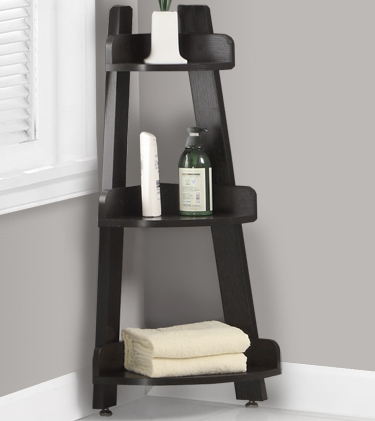 Corner Shelf Stand in Bathroom Shelves on Bathroom Corner Shelf  id=25055