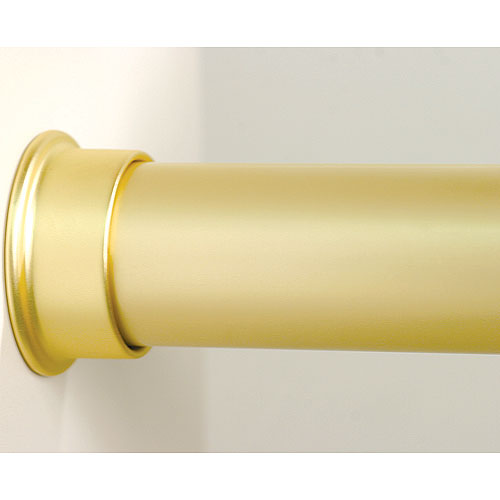 Custom Size Closet Rod Brushed Gold In Closet Rods And Brackets