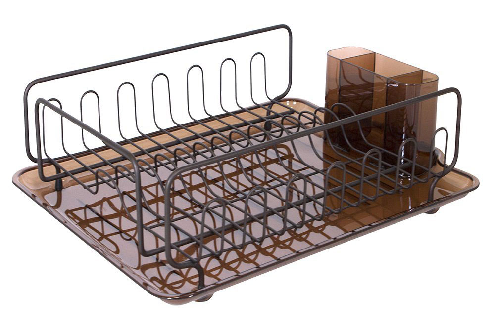 InterDesign Dish Drainer Rack Bronze In Dish Racks