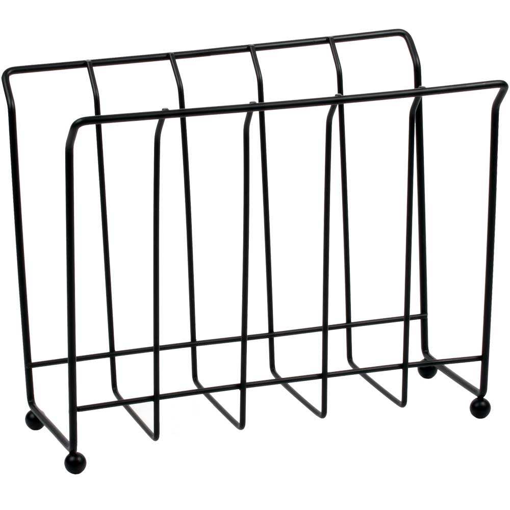 standing magazine rack black wire in