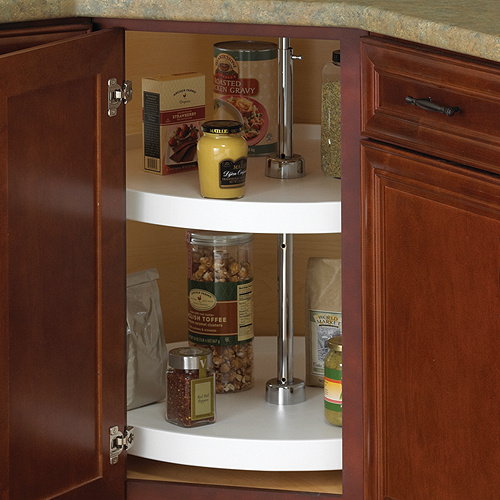 18 Inch Cabinet Lazy Susan White Full Round In Cabinet