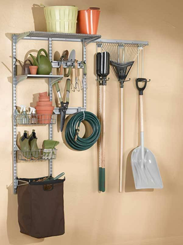 Looking for the perfect gift for the guy in your life? Why not give him some fun and fabulous gifts to get him organized? Like this garden tool organizer.