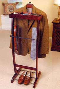 mens suit valet stand in clothing racks