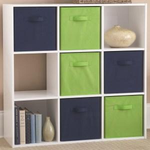 Indoor Hallway Storage Unit Cubes Organizer Brown 9 Cube