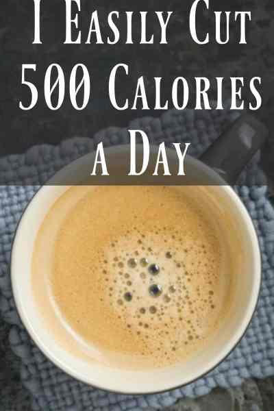 How I easily cut 500 calories a day!